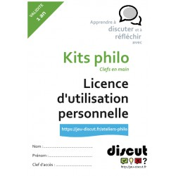 Licence personnelle annuelle - Kits philo